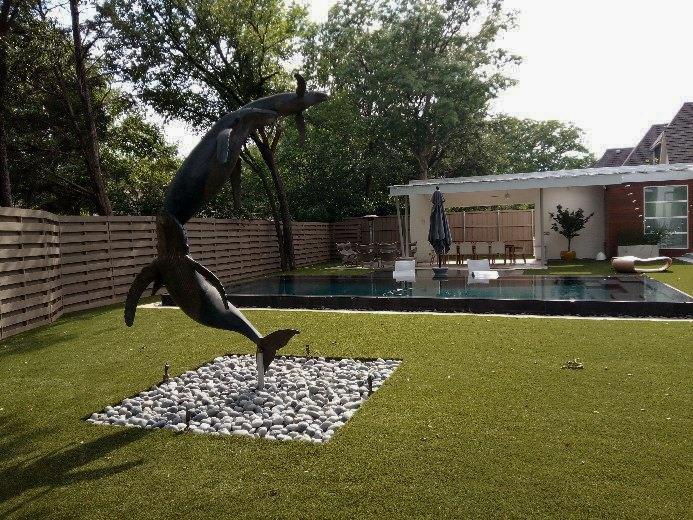 Commercial Artificial Grass Installation, Dallas Texas