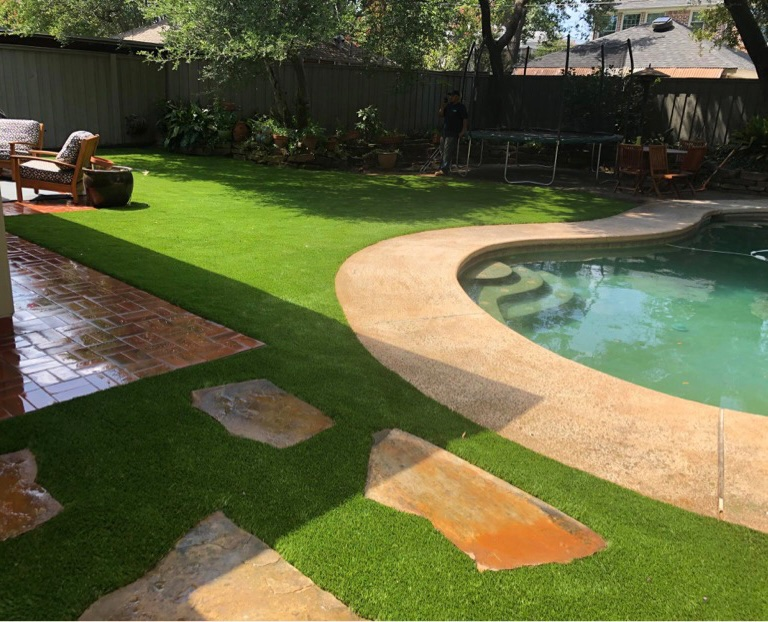 Artificial Pool Grass Installation | The Perfect Lawn