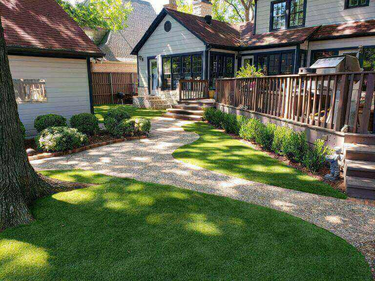 Front Yard Installed with Artificial Grass | The Perfect Lawn
