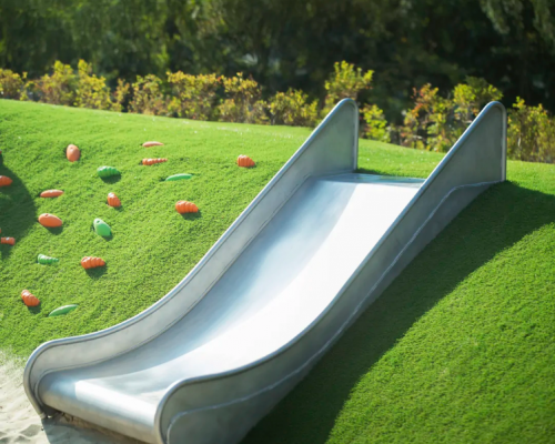 Artificial turf provides a safer, cushioned surface for kids.